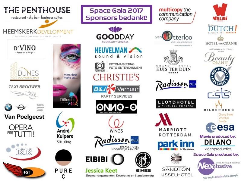 Space Gala 2017 - Sponsors Bedankt